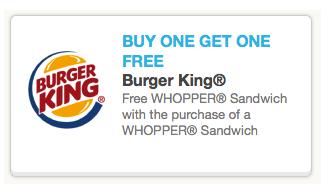 burgerking b1g1 whopper