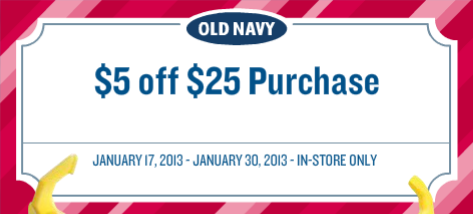 Old Navy 5 off 25